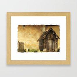 Old Church Door Framed Art Print