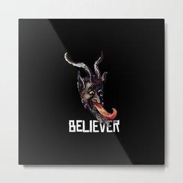 Krampus Believer Gruss Vom Merry Christmas Demon Metal Print