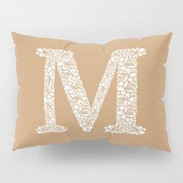Floral Letter M Pillow Sham