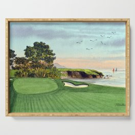 Pebble Beach Golf Course 5th Hole Serving Tray