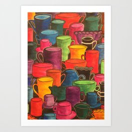 Coffee and colours Art Print