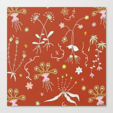 Red Flora of Planet Hinterland Canvas Print