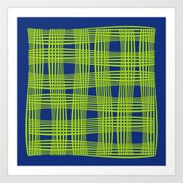 Wavy Weave Art Print