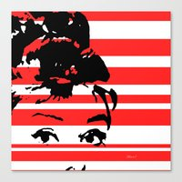 audrey Canvas Prints featuring Audrey by Heaven7