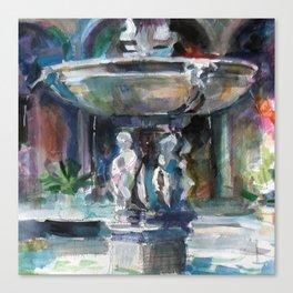 Spanish Fountain Canvas Print