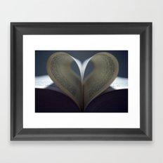 Moody Love Framed Art Print