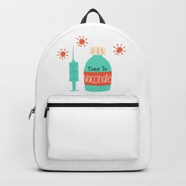 Time To Vaccinate Pattern Backpack