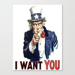 Uncle Sam I Want You Canvas Print