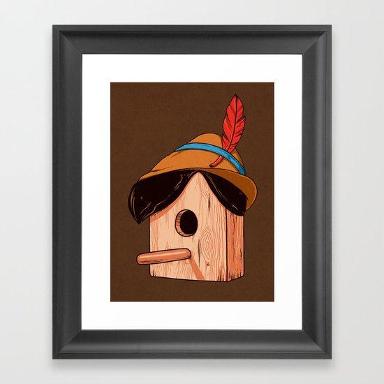 Woodpecker´s house Framed Art Print