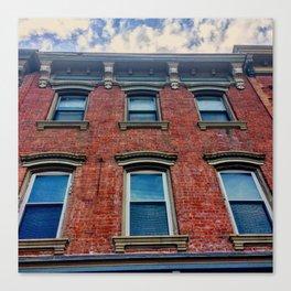 Looking Up on Main Street - Beacon NY Canvas Print