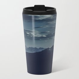 Lonely peak of the mountains Metal Travel Mug