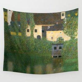 "Gustav Klimt ""Schloss Kammer on Lake Attersee I"" Wall Tapestry"