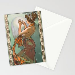"""Alphonse Mucha """"The Moon and the Stars Series: The Pole Star"""" Stationery Cards"""