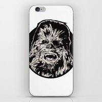 chewbacca iPhone & iPod Skins featuring Chewbacca by LaurenNoakes