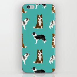 Border Collie mixed coats dog breed pattern gifts collies dog lover iPhone Skin