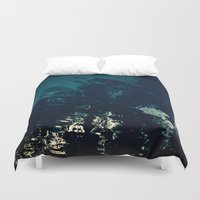 palms Duvet Covers featuring Palms by CloudedSunset