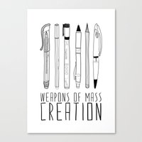 day Canvas Prints featuring weapons of mass creation by Bianca Green