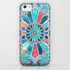 Iridescent Watercolor Brights on White iPhone 5c Slim Case