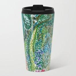 cheerful handmade embroidery in the digital world Travel Mug