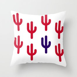stand out cactus Throw Pillow