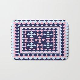 Patchwork Quilt - Pink Blue Navy Bath Mat