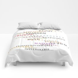 Word Inventions William Shakespeare Quote Art - Typography Comforters