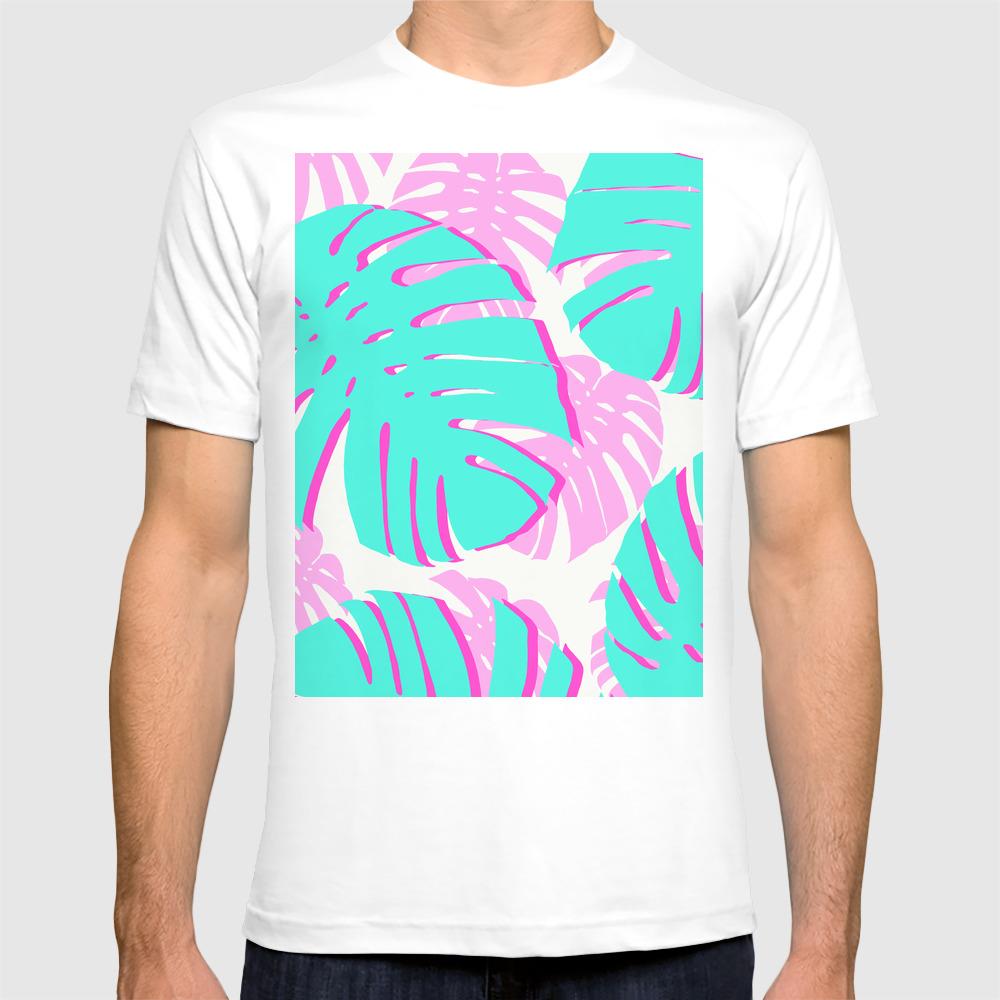 Vibrant Tropical Leaves T-shirt by Beautifularts TSR8956716