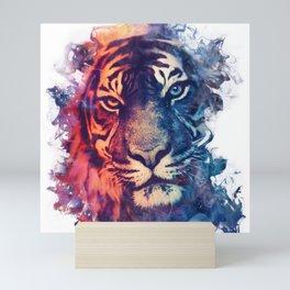 Tiger Portrait Smokey Watercolor Mini Art Print