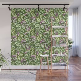 I don't need to improve - Green and pink Wall Mural