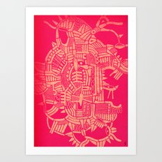 - the pink stencil - Art Print