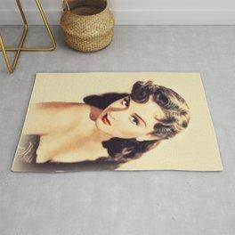 Margaret Lindsay, Vintage Actress Rug