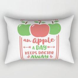 an apple a day keeps doctor away Rectangular Pillow