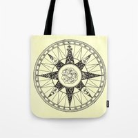 compass Tote Bags featuring Compass by Smokacinno
