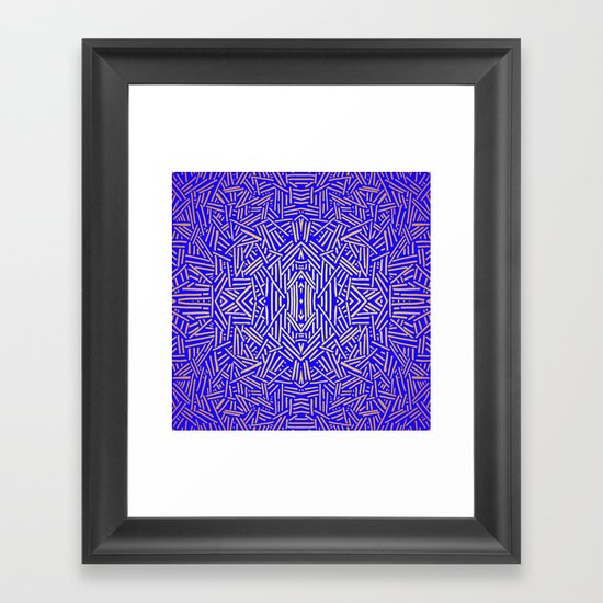 Radiate (Yellow/Ochre Royal) Framed Art Print