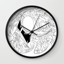 Chupacabra .5 Wall Clock