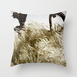 Tall Grass in the Wind Throw Pillow