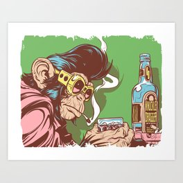 Knuckle Dragger Art Print