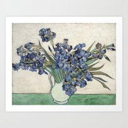 Vase with Irises Art Print