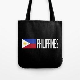 Philippines: Filipino Flag & Philipinnes Tote Bag