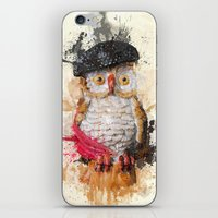 spain iPhone & iPod Skins featuring Spain Owl by Msimioni