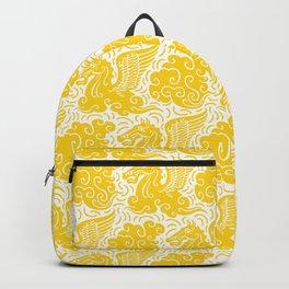 Pegasus Pattern Yellow Backpack