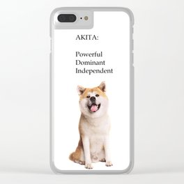 Akita Love Clear iPhone Case