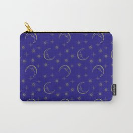 Vintage Celestial Moon & Stars Carry-All Pouch