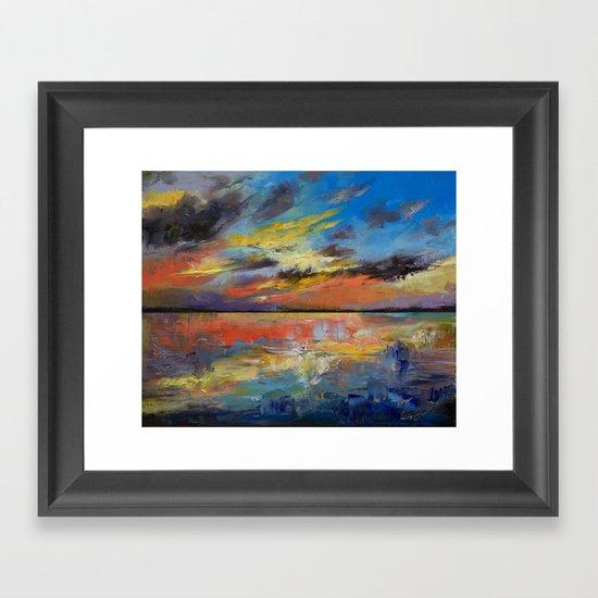 Key West Florida Sunset Framed Art Print