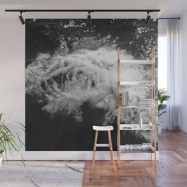 LAKE HURON WAVE B/W Wall Mural