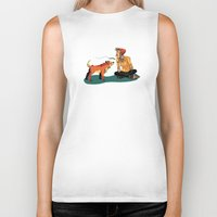 musa Biker Tanks featuring pet the dog by musa