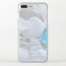 Turquoise Sea Glass Clear iPhone Case