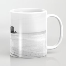 Black and White Dunedin beach - New Zealand Coffee Mug