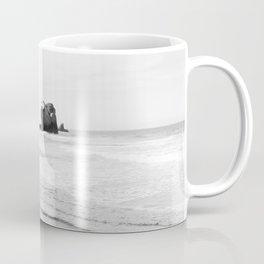 Black and White Dunedin beach - New Zealand Coffee Mug