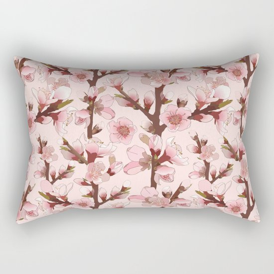 Cherry Blossom #16 Rectangular Pillow